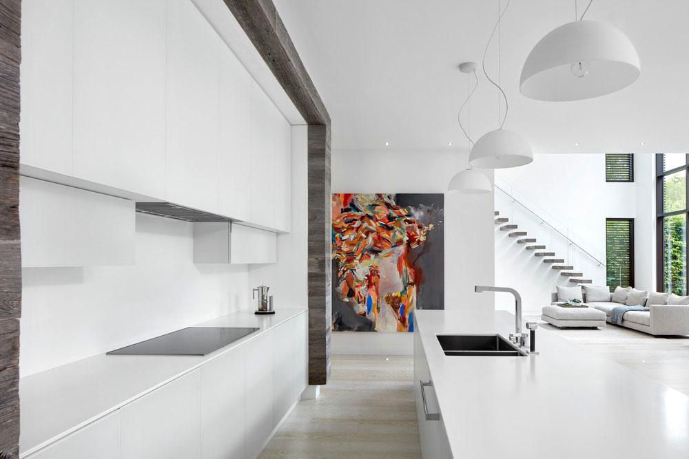 vista de la cocina abierta al salón