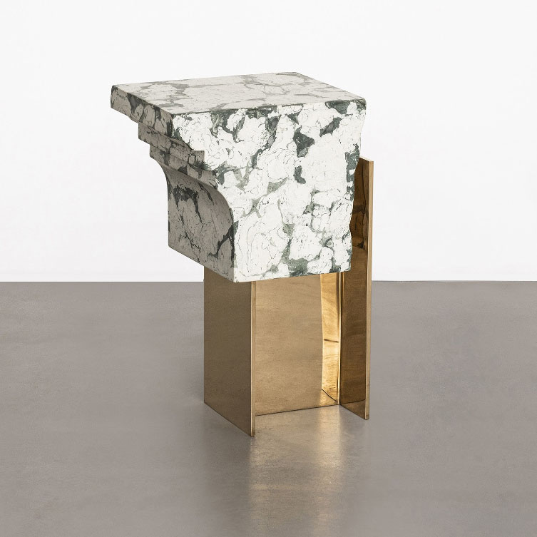 "Roberto Sironi. ""Volubilis"" side table, from ""RUINS"" collection. Carwan Gallery. Atenas"