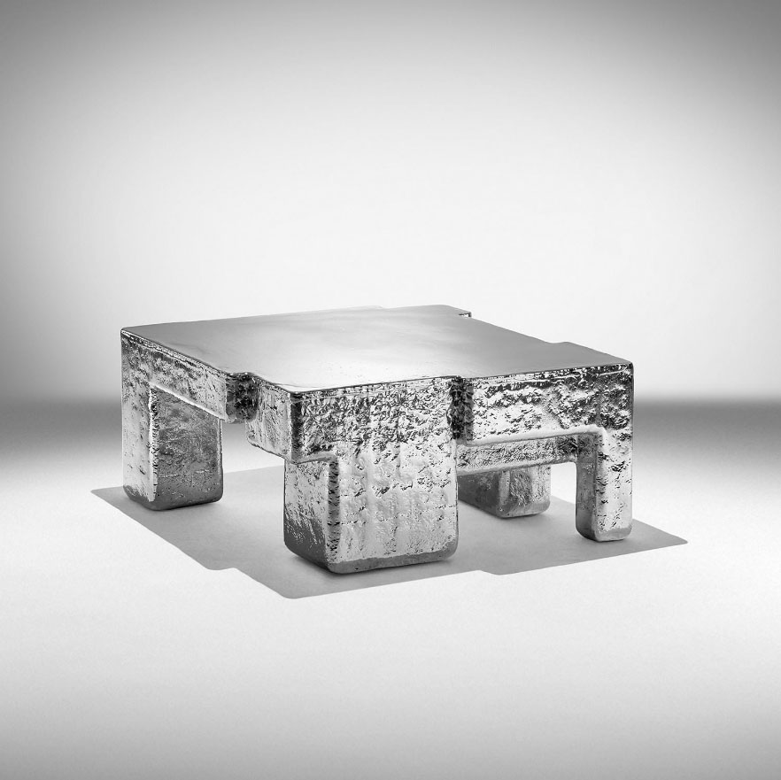 "Studio Nucleo. ""Metal Fossil"" coffee table de Studio Nucleo. Ammann Gallery (Colonia) Ammann Gallery (Colonia)"