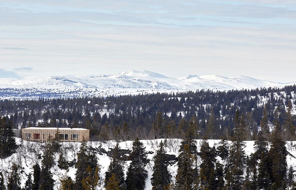 Vista de la cabaña Skigard Hytte situada en el lado oeste de la ciudad de Kvitfjell, en Noruega