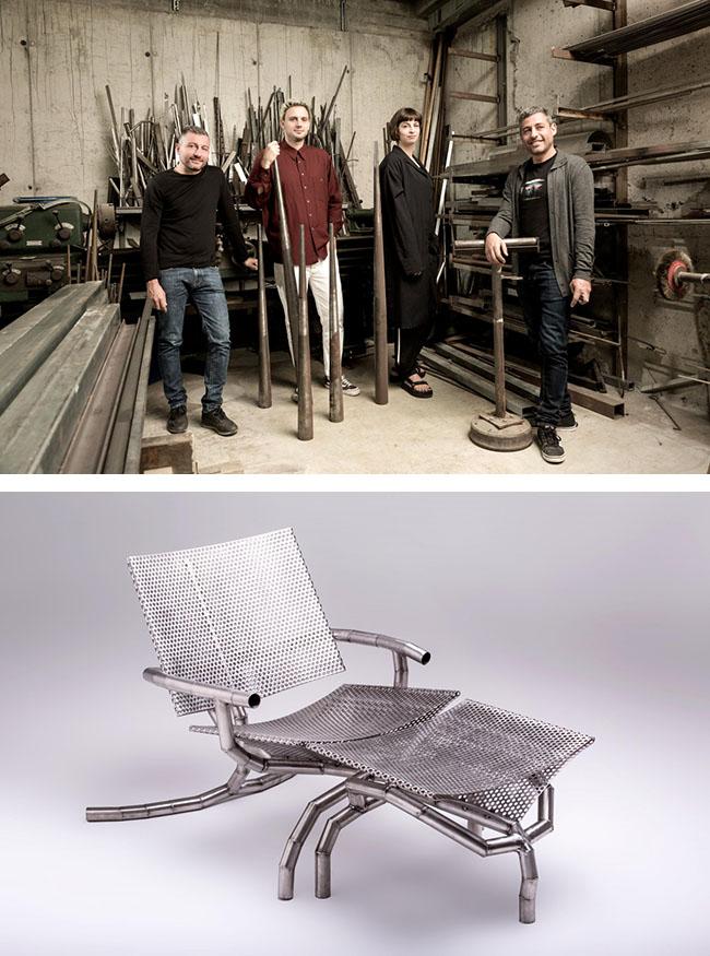 los diseñadores holandeses Odd Matter, llamados a colaborar con los sardos BAM, expertos en el trabajo del metal.
